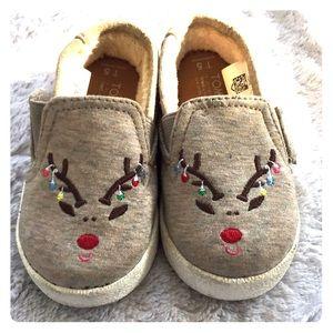 Toms Reindeer Embroider Slip-On